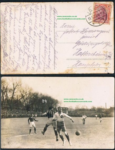1922 German football  action postcard